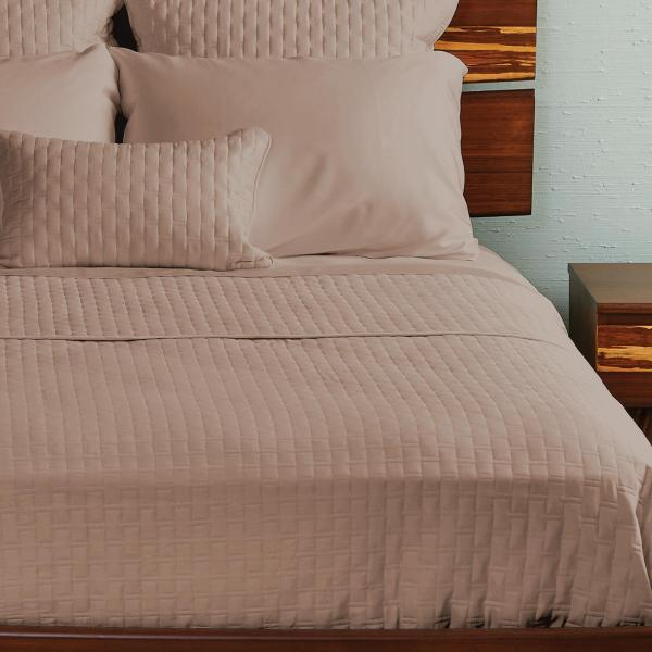 Bamboo Quilted Coverlet Champagne ai1 3