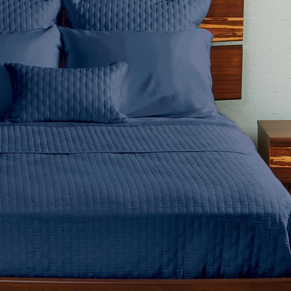 Bamboo Quilted Coverlet Indigo ai1 3