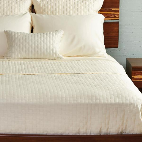 Bamboo Quilted Coverlet Ivory ai1 4