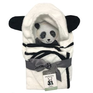 Panda Baby Rayon Viscose Bamboo Hooded Bath Towel Set