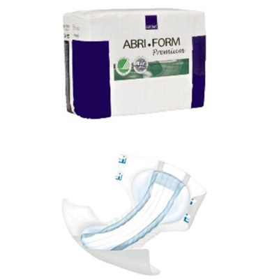 Abri-Flex Premium Adult Incontinent Brief Abri-Form Premium Medium Heavy Absorbency - Pack of 22