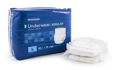 Adult Absorbent Underwear McKesson Regular Pull On Large Disposable Moderate Absorbency