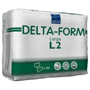 Abena Adult Incontinent Brief Delta-Form Tab Closure Large Disposable Heavy Absorbency - 308863 - Case of 80