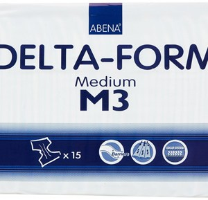 Abena Adult Incontinent Brief Delta-Form Tab Closure Medium Disposable Heavy Absorbency - 308872 - Case of 60