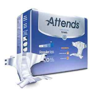 Attends Advanced Adult Incontinent Brief Tab Closure Regular Disposable Heavy Absorbency - DDC25 - 80/cs