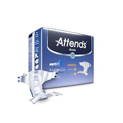 Attends Advanced Adult Incontinent Brief Tab Closure X-Large Disposable Heavy Absorbency - DDC40 - 60/cs