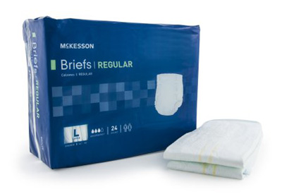 Adult Incontinent Brief McKesson Regular Tab Closure Large Disposable Moderate Absorbency