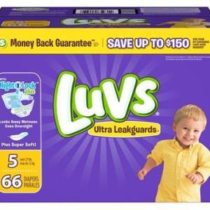 Luvs Ultra Leakguards Diapers BOX Size#5 - 66ct/1pk