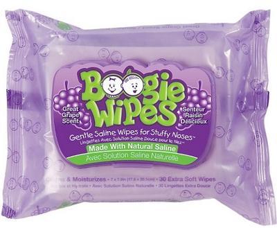 Boogie Wipes Grape - 30ct/12pk