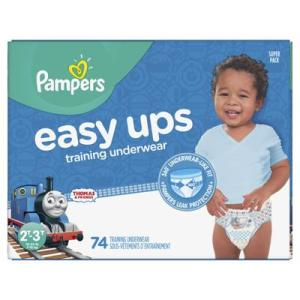 Pampers SUPER BOYS EASY UPS 2T-3T size 4 - 74ct/1pk