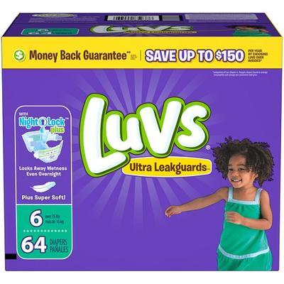 Luvs BIG PACK Size 6 - 64ct/1pk