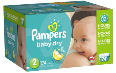 Pampers Baby-Dry ECON Size 2 - 174ct/1pk