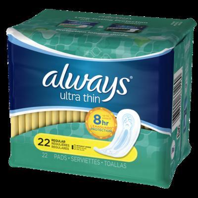 Always Ultra Thin REGULAR NONWings - 22ct/12pk