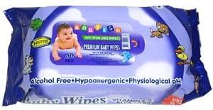 BABYISH Baby Wipes 80 ct. PURPLE - 80ct/24pk