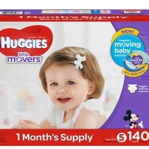 HUGGIES Little Movers Size 5 - 140ct/1pk