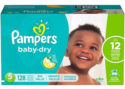 Pampers Baby-Dry ECON Size 5 - 128ct/1pk