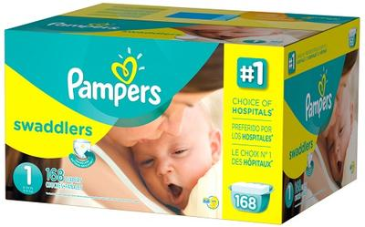 Pampers Swaddlers Econ Size 1 - 192ct/1pk