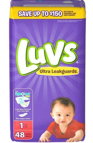 Luvs Ultra Leakguards Newborn Size1 - 48ct/2pk