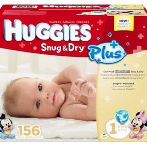 HUGGIES SNUG & DRY Size 1 - 156ct/1pk