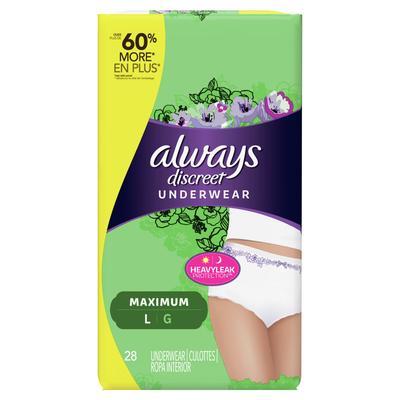 Always Discreet Underwear Maximum Protection Large- 28ct/2pk