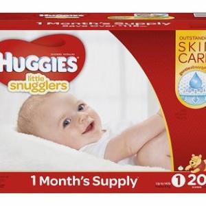 HUGGIES Little Snugglers Size 1  - 204ct/1pk