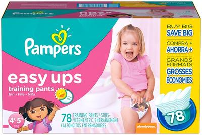 Pampers GIRLS EASY UPS 4T-5T size 6 - 78ct/1pk