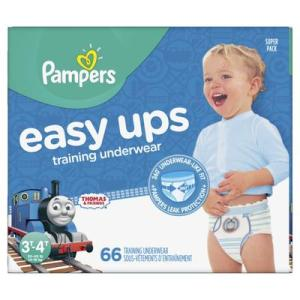 Pampers SUPER BOYS EASY UPS 3T-4T size 5 - 66ct/1pk