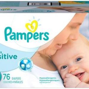 Pampers Super Pack Swaddlers SENSITIVE Size 2 - 76ct/1pk
