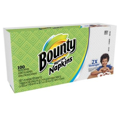 Bounty White Paper Napkins Quilted -100ct/20pk