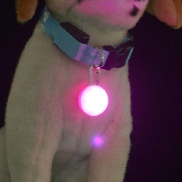 1 Pcs LED Pet Dog Collar Cute Pendant Night Safety Pendant Luminous Night Light Collar Pedant