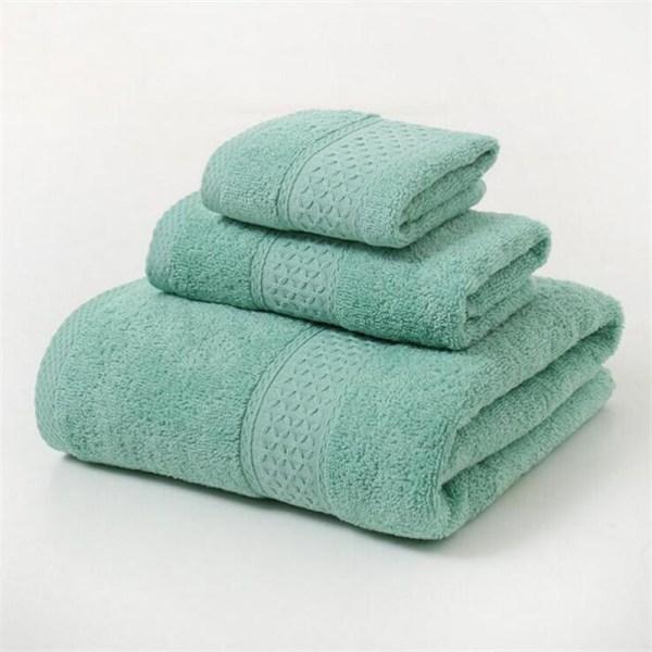 12 Colors 3 Pcs Cotton Absorbent Face Hand Bath Towel Sets Thick Bathroom Towels Cotton Adults 3