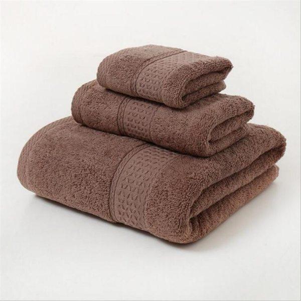 12 Colors 3 Pcs Cotton Absorbent Face Hand Bath Towel Sets Thick Bathroom Towels Cotton Adults 4