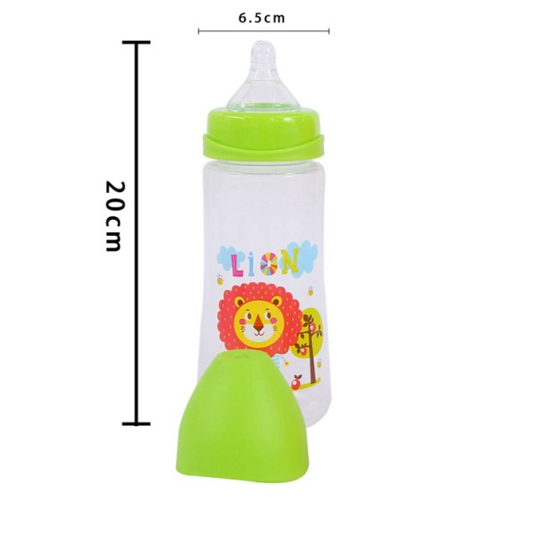 300ML Baby Cartoon Milk Wide Mouth Bottle Juice Bottle Baby Milk Bottle Safety Silicone Baby Bottle 1