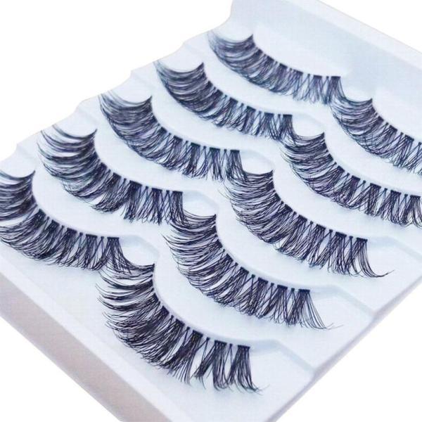 5 pairs 3D Natural Multi Layer Long Eye Lashes hand made fake eyelashes 3D Reusable lashes 2