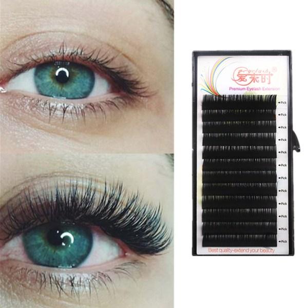 All Size Individual Eyelash Extension BCD Curl High Quality False Mink Lash Classical False Eyelash