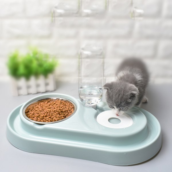 Cat Bowl Dog Water Feeder Bowl Cat Kitten Drinking Fountain Food Dish Pet Bowl Goods Automatic