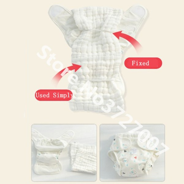 Cotton Baby Nappies Diaper Reusable Washable Cloth Diapers Nappy Cover Waterproof Newborn Baby Traning Panties Diapers 2