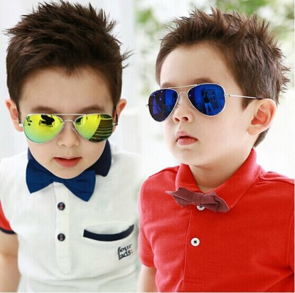 DRESSUUP Fashion Baby Boys Kids Sunglasses Piolt Style Brand Design Children Sun Glasses 100 UV Protection