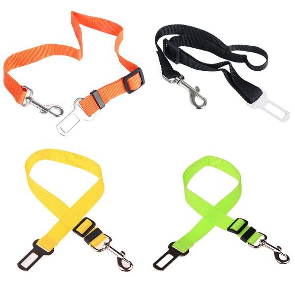 Pet Dog Adjustable Safety Seat Belt Nylon Pets Puppy Seat Lead Leash Dog Harness Vehicle Seatbelt 3