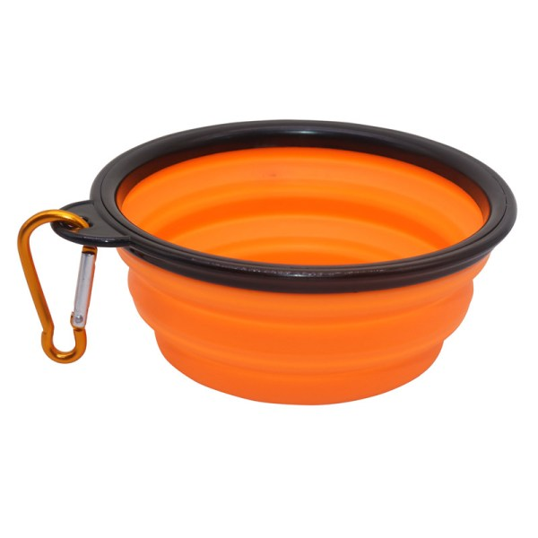 Pet Soft Dog Bowl 1PC Folding Silicone Travel Bowl For Dog Portable Collapsible Folding Dog Bowl 3