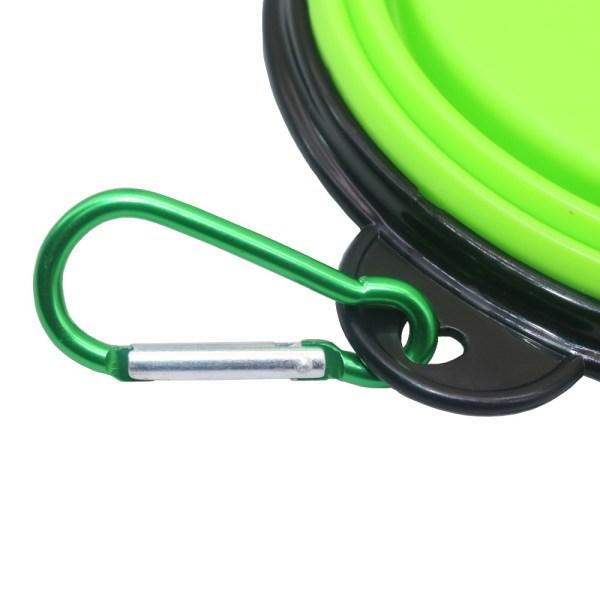 Pet Soft Dog Bowl 1PC Folding Silicone Travel Bowl For Dog Portable Collapsible Folding Dog Bowl 4