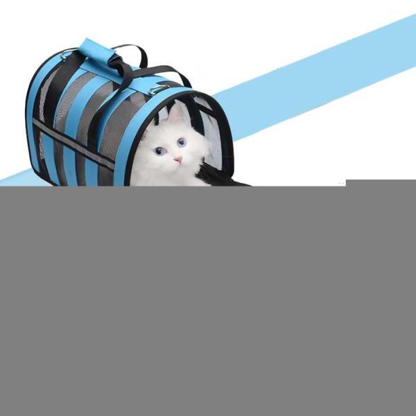 Pets Bag Dual use Foldable Breathable Mesh Cat Bag Dog Bag Outdoor Portable Handbag Breathable Pet 4