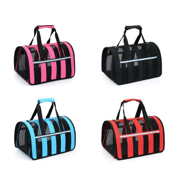 Pets Bag Dual use Foldable Breathable Mesh Cat Bag Dog Bag Outdoor Portable Handbag Breathable Pet