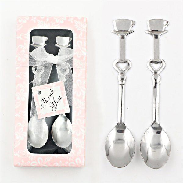 1 Pair kerst Sweet Love Drink Tea Coffee Milk Tea Spoon Bridal Shower Wedding Party Favor