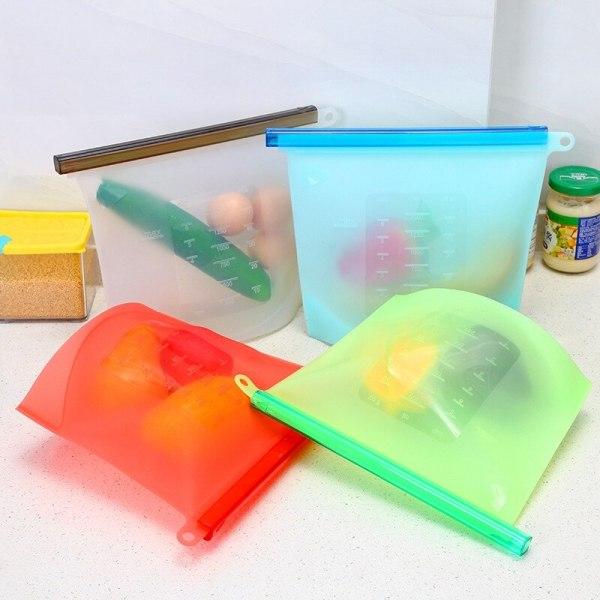 Bigger Reusable Silicone Food Bag Wrap For Food Fruit Vegetable Sandwich Storage Vacuum Seal Food Fresh
