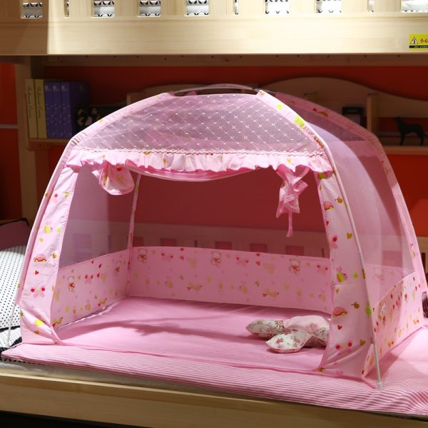 Pink Portable Baby Infants Insect Netting Mosquito Mesh Baby Cradle Canopy Bed Mosquito Nets Summer Baby