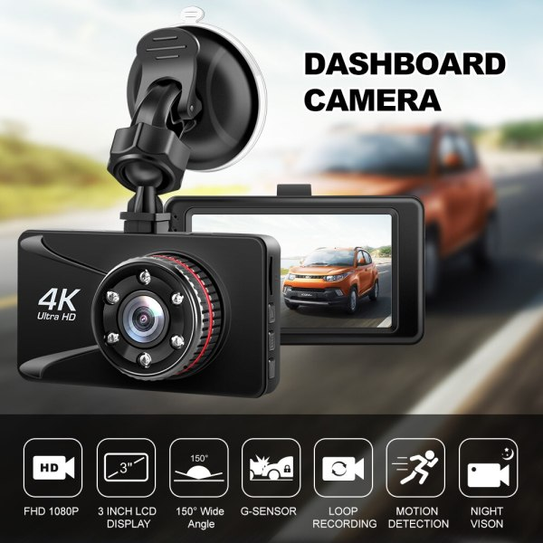 Car DVR Camesh Cam 3 Inch 1080P Full HD Dash Camera 170 Degree Dashcam Registrars Cars