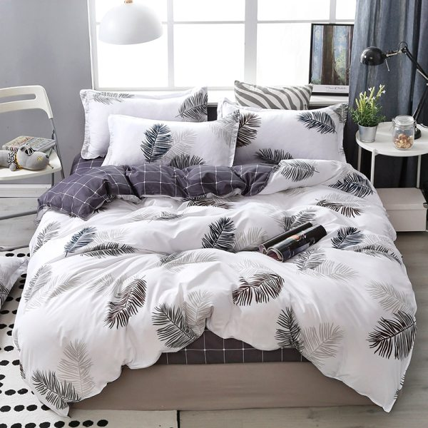 Lanke Cotton Bedding Sets Home Textile Twin King Queen Size Bed Set Bedclothes with Bed Sheet