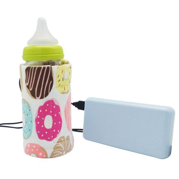 USB Milk Water Warmer Travel Stroller Insulated Bag Baby Nursing Bottle Heater Dinosaur Rainbow Baby Bottle