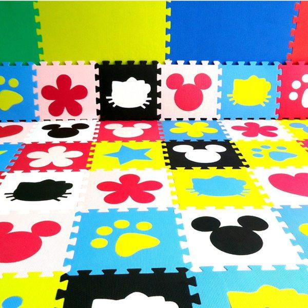 Children s soft developing crawling rugs baby play Block number letter cartoon eva foam mat pad